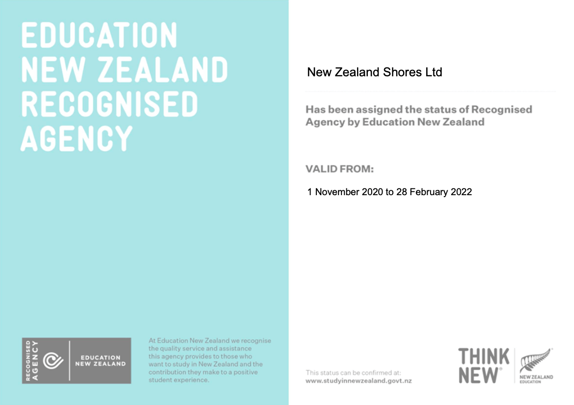 ENZ recognised agency